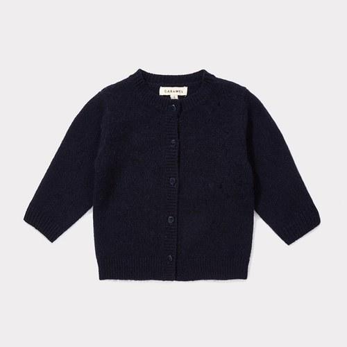 65b103cfff61 CARAMEL London Baby Sandgate 羊毛針織外套 墨藍色- Bungo Minimall