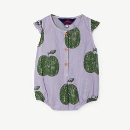 Baby 小蘋果棉麻混連身衣