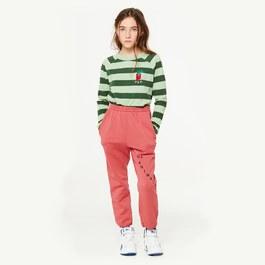 刷色紅衛衣運動褲(寬鬆版型)