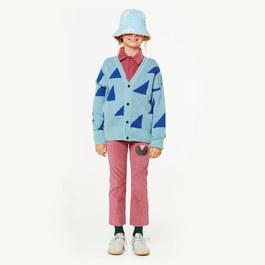 幾何三角混羊毛針織外套(寬鬆版型)