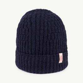 Pony 羊毛粗針織帽_藍