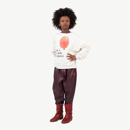 Bear 紅色氣球薄款微刷毛衛衣(版型偏大)