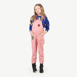 Mule 粉色連身吊帶褲(版型偏大)