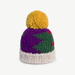 球球幾何羊毛針織帽