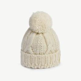 球球羊毛針織帽