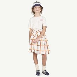 Turkey 格紋薄棉及膝裙