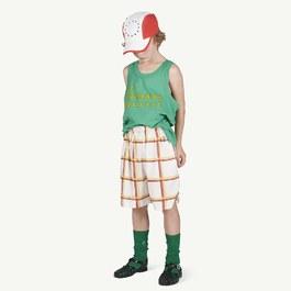 Duck 格紋平織百慕達褲(版型偏大)