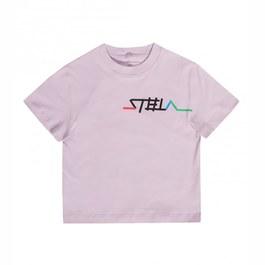 Oversize Logo淡紫有機棉Tee
