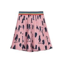 粉色百摺膝上短裙