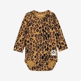 Baby 豹紋天絲棉連身衣