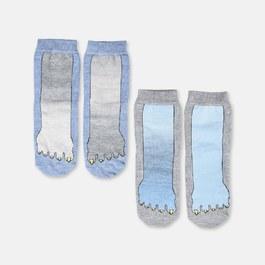 怪獸腳丫中筒襪(兩雙組)