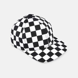 Preston 黑白格紋滑板帽