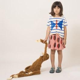 葉子造型有機棉A字圓裙