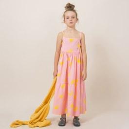 小太陽有機棉肩帶公主洋裝 (版型偏大)