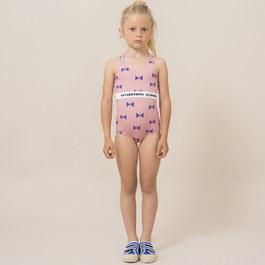 蝴蝶造型連身泳衣