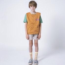 格紋草莓刺繡小短褲