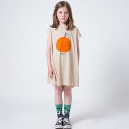 夏日橘子薄棉洋裝(版型偏大)