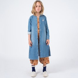 小兔子刺繡丹寧洋裝外套