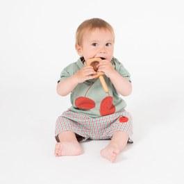 Baby 櫻桃笑臉有機棉上衣