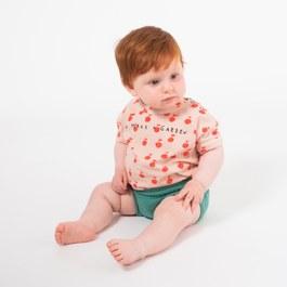Baby 小蘋果口號有機棉上衣