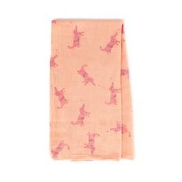 粉色小狗紗布大包巾