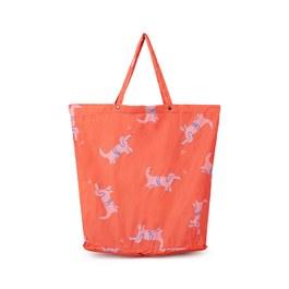 粉色小狗收納型購物袋