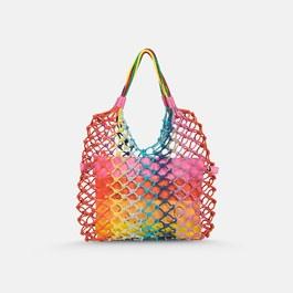 彩虹編織手提袋