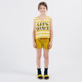 Let's Dance V領平織短版背心