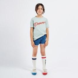刺繡復古運動小短褲