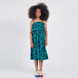 抽象色塊有機棉長洋裝(版型偏大)