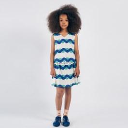 浪花造型平織圓裙
