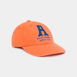 亮橘刺繡單車帽