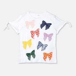 Dorine 蝴蝶結有機棉上衣