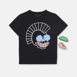Funny Face 搞怪骷髏徽章T-shirt