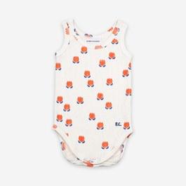 Baby花朵羅紋針織連身衣(合身版)