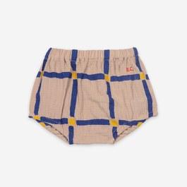 Baby格紋皺棉小褲褲