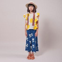 罌粟花羅紋針織寬褲