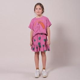 番茄有機薄棉膝上短裙