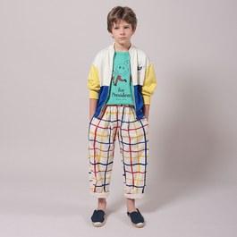 格紋薄棉平織長褲(版型偏大)