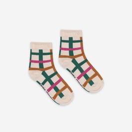 彩色格紋短襪