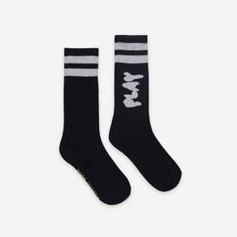 Play 條紋中筒襪