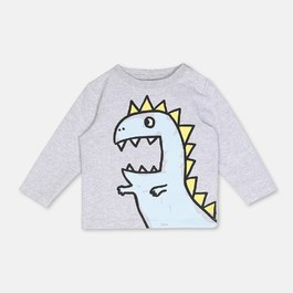 Baby 藍色恐龍有機棉上衣