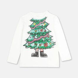 聖誕樹有機薄棉上衣