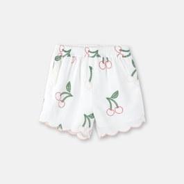 小櫻桃刺繡短褲
