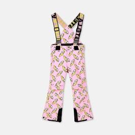 3D閃電滑雪吊帶褲 (防水材質)