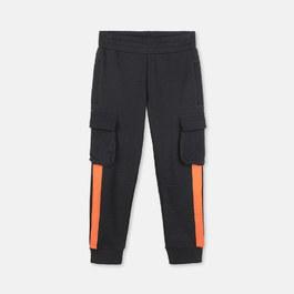橘條薄款口袋運動褲