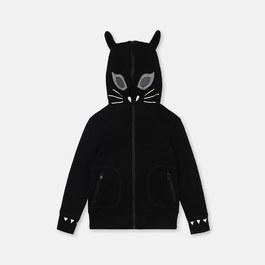 黑貓薄款連帽衛衣外套(版型偏小)