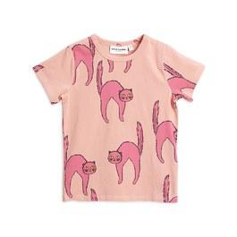 粉色貓咪有機棉上衣