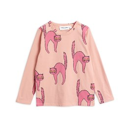 Baby 粉色貓咪有機棉長袖上衣