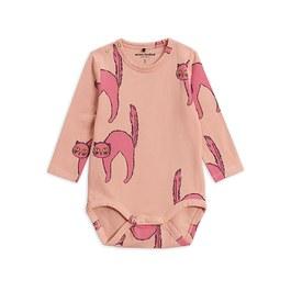 Baby 粉色貓咪有機棉連身衣